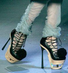 John Galliano lace-up-platform shoes Fall Winter 2009 2010 #runway