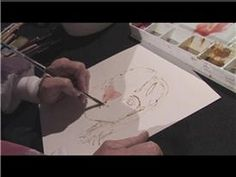 Watercolor Painting : How to Paint Portraits in Watercolor