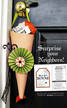 "Free printable and cute cone to ""BOO"" your neighbors"