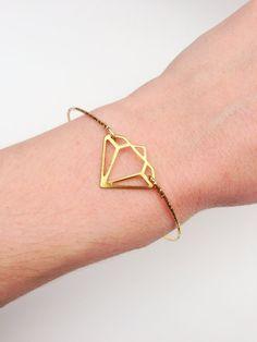 Diamond Gold Layering Bracelet by SHUNTLA on Etsy, $9.00