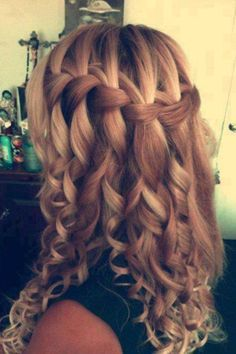 Hairstyles For Long Hair Sweet 16 : prom hair style more hairstyles hair styles waterfal braids prom hair ...