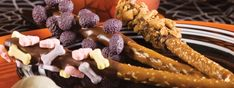 Sppok-tacular chocolate-dipped pretzels