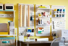 Get Crafty on OneKingsLane.com with Wall Control's metal pegboard craft organization systems.