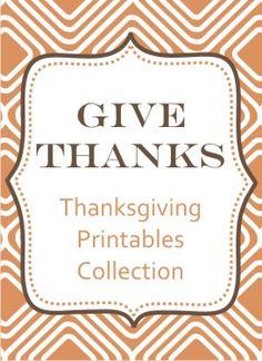 Thanksgiving (and Christmas) printables