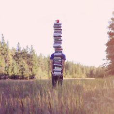 stack of books...