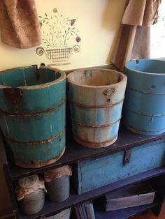 primitive blue, blue bucket, primit blue