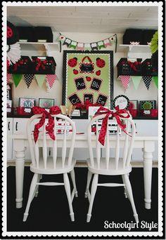 Schoolgirl_Style Ladybug theme 4  Ladybug classroom theme decor by Schoolgirl Style www.schoolgirlstyle.com