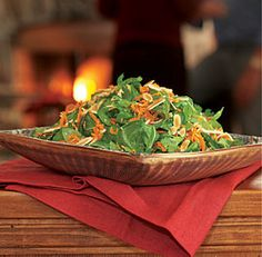 Arugula, Carrot, and Celery Root Salad with almonds by Fine Cooking.
