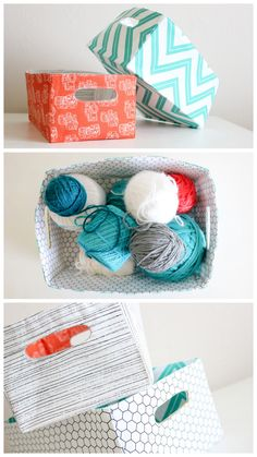 #DIY Fabric Baskets - we love this idea for places you need a basket and just can't find the right size, or are looking for something with a pop of color.