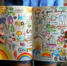 Good thoughts pages love the idea & the colors...