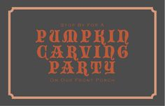 Host a Pumpkin Carving Party on your Front Porch!  Free Printable Invitation.