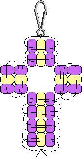Cross pony bead pattern