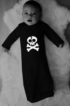 Baby punk rock Long Sleeve Gown onesie gift Newborn YOU CHOOSE IMAGE halloween costume. $25.00, via Etsy.