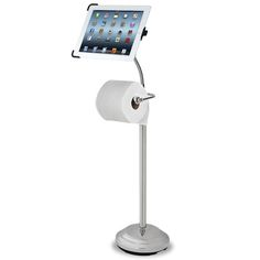 iPad Holding Toilet Paper Stand