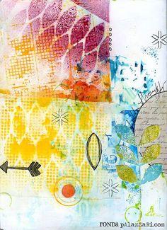 """Ronda Palazzari using the Balzer Designs """"Blazonry"""" stencil."""