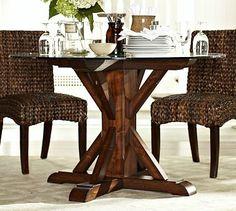 Ava Round Fixed Dining Table #potterybarn