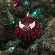Spiderman Hand Painted Christmas Ornament on Etsy, $8.00