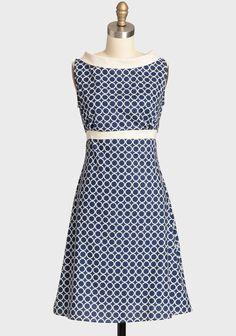 Fifi Navy Orbit Dress By Heartbreaker | Modern Vintage Dresses