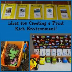 tips for creating a print rich space