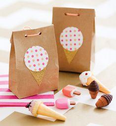 Ice Cream Shoppe Birthday Party - favor bags