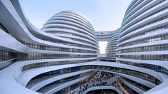Zaha Hadid's Galaxy Soho project in Beijing