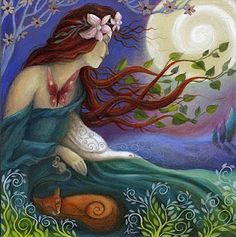 Habondia, Germanic Goddess of the Earth, by Amanda Clark