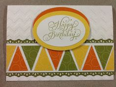 Lesley's Stampin Ground : Petite Pennants Builder punch