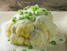 Cauliflower with Blue Cheese Sauce - From Framed Cooks