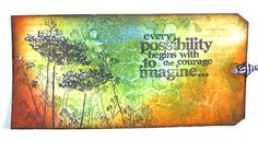 Tim Holtz distress inks and stamps tag