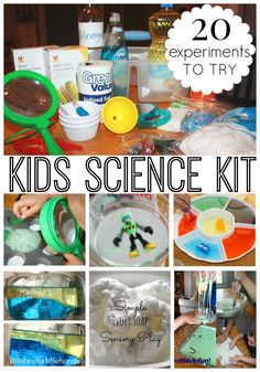 kids science kit and 20 experiments to try
