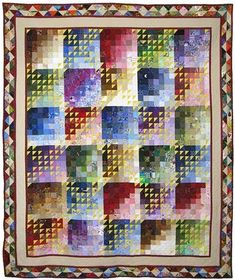 'Val's 60th' quilt by Val Williams. 2nd prize, 2008 Auckland Patchworkers and Quilters Guild (NZ)
