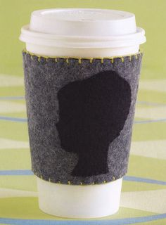 Reusable Coffee Cup Sleeve Pattern for Keeping Coffee Cool - Simple sewing pattern for you and a great homemade gift idea for a friend.