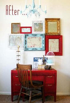 Love this frame & mirror collage idea.