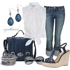 Denim Blue, created by cynthia335 on Polyvore
