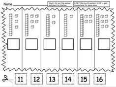 FREEBIE: The common core standard K.NBT is for students to work with numbers 11-19 to gain foundations for place value. This can be tricky for kids who are just learning to count one to one objects. I suggest practicing this with real objects like unifix cubes and doing a lot of hands on modeling before giving students these practice sheets from Teacher Laura.