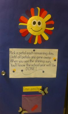 Very cute poem to count down the end of the school year!!! I can't take credit for it....it was done by one of our Kindergarten assistants :-)