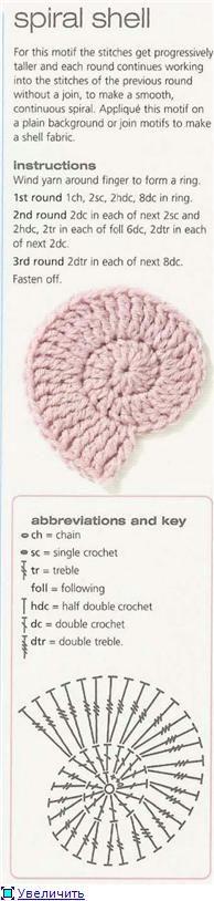Lovely crochet spiral shell.
