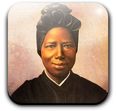 """St. Josephine Bakhita was born to a wealthy family in Sudan in 1869. She could not recall the name given to her at birth by her parents after she suffered repeated terrible humiliation, both physical and moral, as a result of being kidnapped by slave traders at the age of 7 and sold and re-sold in the slave markets of El Obeid and of Khartoum. The kidnappers gave her the name of Bakhita, which means """"the lucky one"""" – a terrible irony, at least at that point in her life. In the capital of Sudan,"""