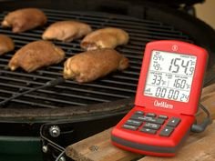 Just set the alarm on the  Thermoworks ChefAlarm and you can free yourself for other tasks instead of constantly watching the grill. getdatgadget.com/12-gadgets-busy-chef-6-must-time-saver/