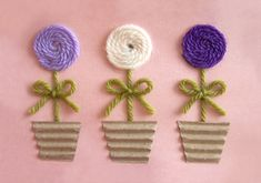Mother's Day Yarn Flower Cards from yourspecialtee