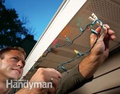 Instead of poking nails into aluminum soffits and fascia when you're hanging holiday lights, clip the wires to the bottom lips of the fascia with clothespins.