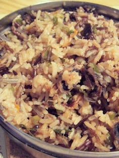 Slow cooker wild rice and mushroom - love the extra recipe for homemade French Onion Soup Mix!