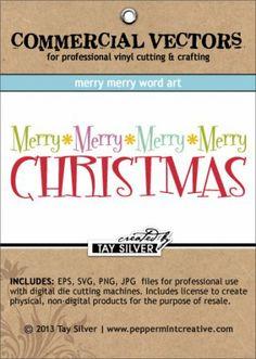 COMMERCIAL Vectors - Merry Merry Word Art