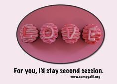 For you, I'd stay second session.    This card won our Valentine competition on our Facebook page (www.facebook.com/hdcampgalil).  Happy Valentine's Day, everyone!  Thanks for voting and supporting Camp Galil!
