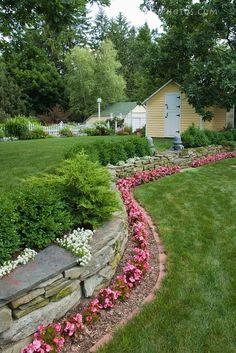 flower bed border idea