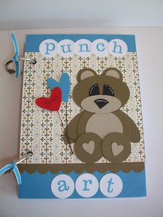 Bear punch art  Stampin With Rachael: Punch Art Class