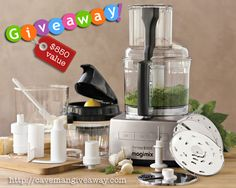Magimix Food Processor Giveaway valued at $850. Entries must be in before 11/17/13. Good luck!