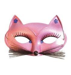 pink fox mask