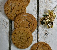 25 Days of Christmas Cookies: Day 14 - Big Soft Ginger Cookies are soft, chewy, and fabulous.  Ginger, cloves, and cinnamon spices help set the mood for everything Christmas.