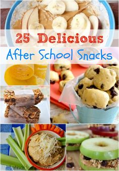 25 Delicious After School Snacks-- there's something for every child!